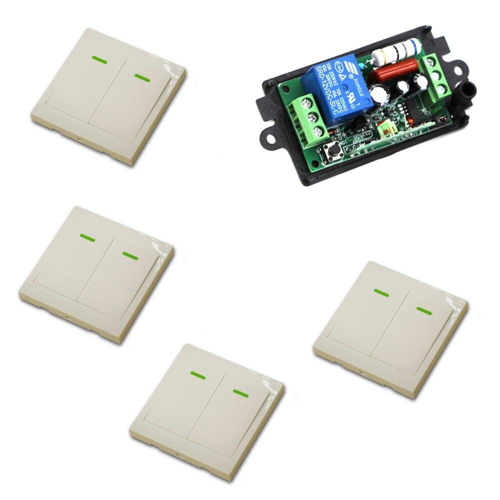 Wireless Remote Control Switch 220V 1CH Wireless Power Relay Radio Light Switch 1ch radio wireless remote control switch 6receiver