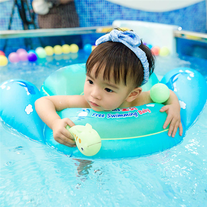Inflatable Wheels Newborns Bathing Circle Pool Baby Swimming Accessories Neck Ring Rafts Safety Neck Float Rings Summer Toy