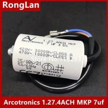 [BELLA] [New Original] Arcotronics AV 1.27.4ACH MKP 7uf 5% motor start capacitors [bella] [new original] arcotronics av motor inverter start capacitor c87 8bf3 mkp 12uf 5% 500v