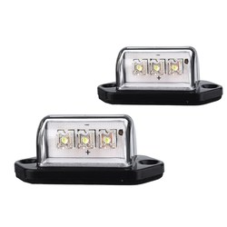 1 Pair 12V Car Licence Plate Light 3LEDs Number Licence Plate Light Rear Tail Lamp Truck Trailer Lorry Auto Lights 2016