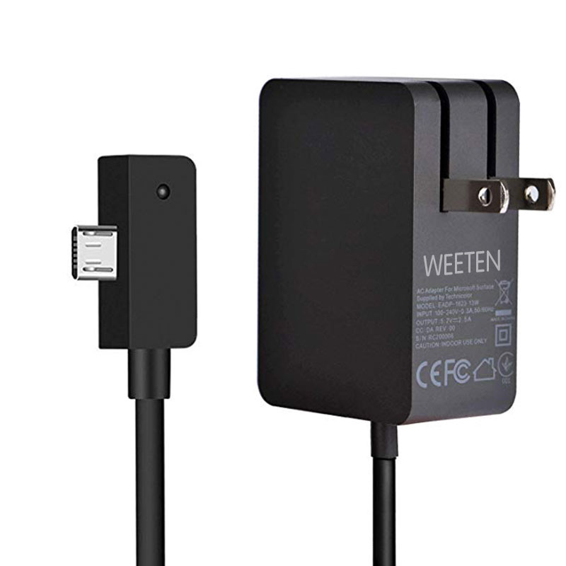 5.2V 2.5A 13W AC Adapter Charger Cable For Microsoft Surface 3 Tablet 1623 1624