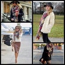 z brand Winter Tartan Scarf Desigual Plaid Scarf cuadros New Designer Unisex Acrylic Basic Shawls Women's big size Scarves