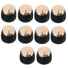 BMDT-10x amplificador de guitarra AMP perillas Push-en negro + tapa de oro para Marshall amplificador