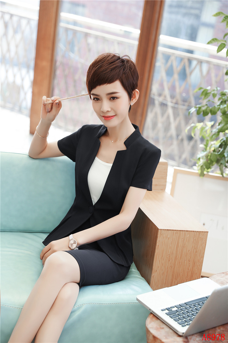 22c964976b9e Slim Fit 2018 Summer New Styles Skirt Suits With 2 Piece Tops And ...