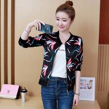 2019 Spring Fashion Bomber Jacket Women Long Sleeve Basic Co