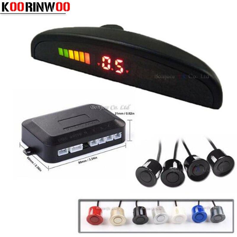 4 Sensors Buzzer 22mm Car Parking Sensor Kit Reverse Backup Radar Sound Alert Indicator Probe System 12V black/white/grey/blue