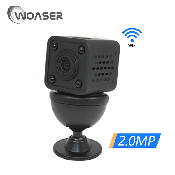 WOASER 1080P HD WIFI Mini IP Camera Night Vision Motion Detect Mini Camcorder Loop Video Recorder Built-in Battery Body Camera hqcam 720p wifi wireless mini ip camera night vision motion detect mini camcorder loop video recorder built in battery body cam