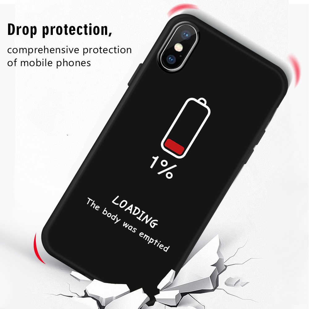 Pokrywa silikonowa etui na telefon z nadrukiem dla iPhone XR X XS Max 7 8 6 S 6 S Plus matowe etui serce przestrzeń list moda Coque Fundas
