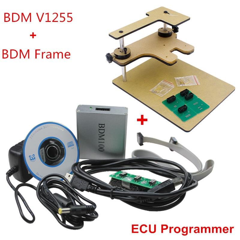 ФОТО 2016 BDM Frame Full Adapter + BDM100 Programmer OBD2 OBDII ECU Chip Tuning Tool 100 V1255 Diagnostic