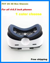 FIIT 2S Virtual Reality 3D Smartphone VR Headset glasses Google Cardboard Head Mount Helmet for 4.0-6.5′ Phone for iphone htc