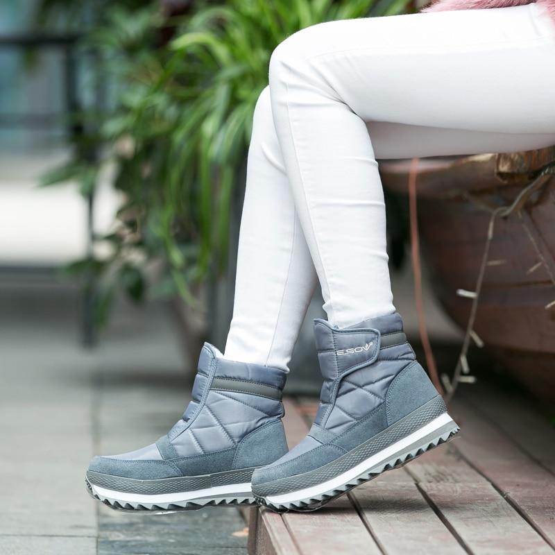 2018 г. новый зимний стиль, зимние сапоги, женские непромокаемые,  Нескользящие зимние ботинки f1b3a86b121