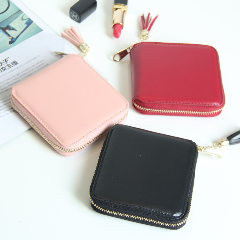 2017 Korean Cute PU Leather Mini Wallet Women Small Clutch