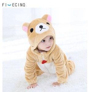 Image 1 - Baby Anime Kostuum Beer Kigurumis Animal Cosplay Outfit Fancy Flanel Leuke Zachte Jumpsuit Peuter Jongen Meisjes Winter Pak