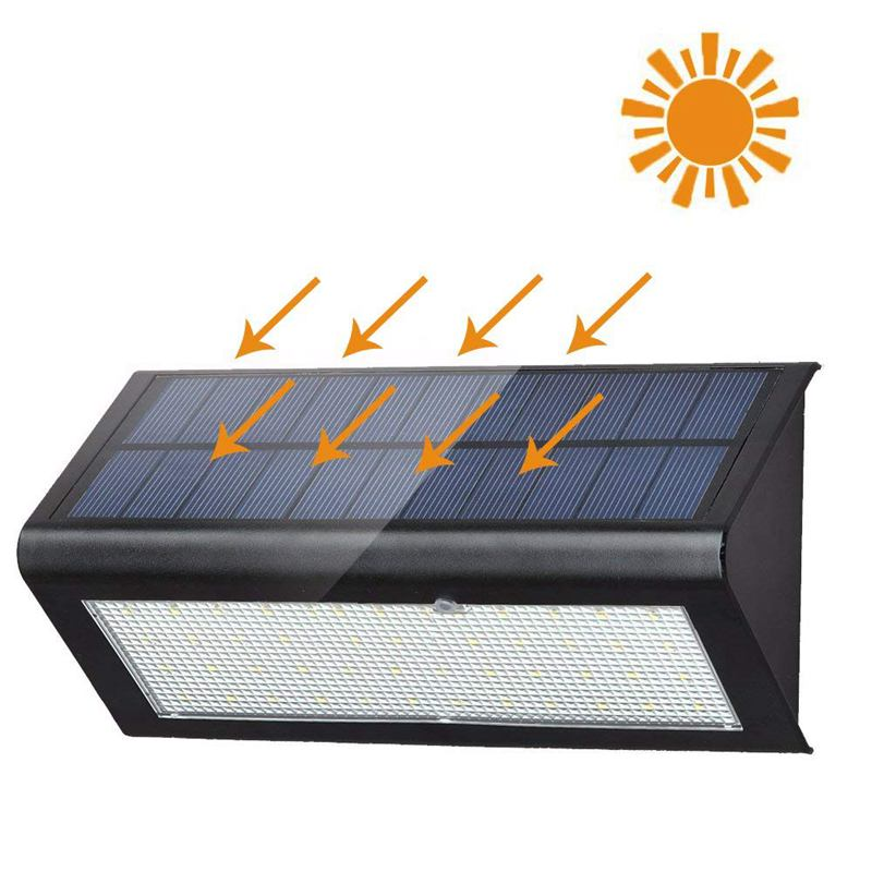 48 LED 800lm Solar Lights - Radar Mircowave Motion Sensor Lights -Wireless Waterproof Exterior Security Wall Light For Patio,