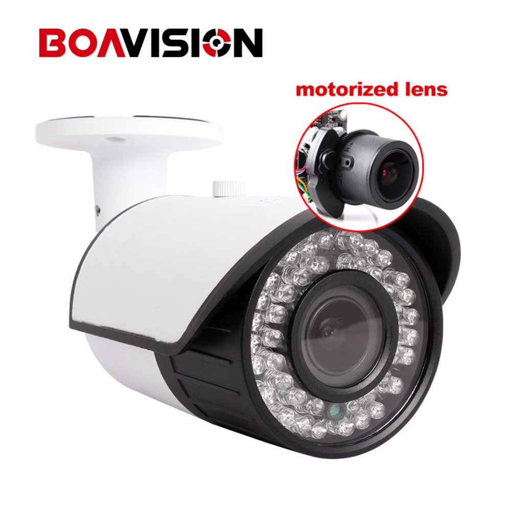 BOAVISION 1080P AHD Camera Bullet Motorized Zoom 2.8-12mm Lens 2MP 4 IN 1 AHD/CVI/TVI/CVBS Camera CCTV Security Outdoor OSD Meun 2mp 1080p ahd camera high definition ahd cvi tvi cvbs camera cctv security outdoor bullet osd meun motorized lens 4x zoom