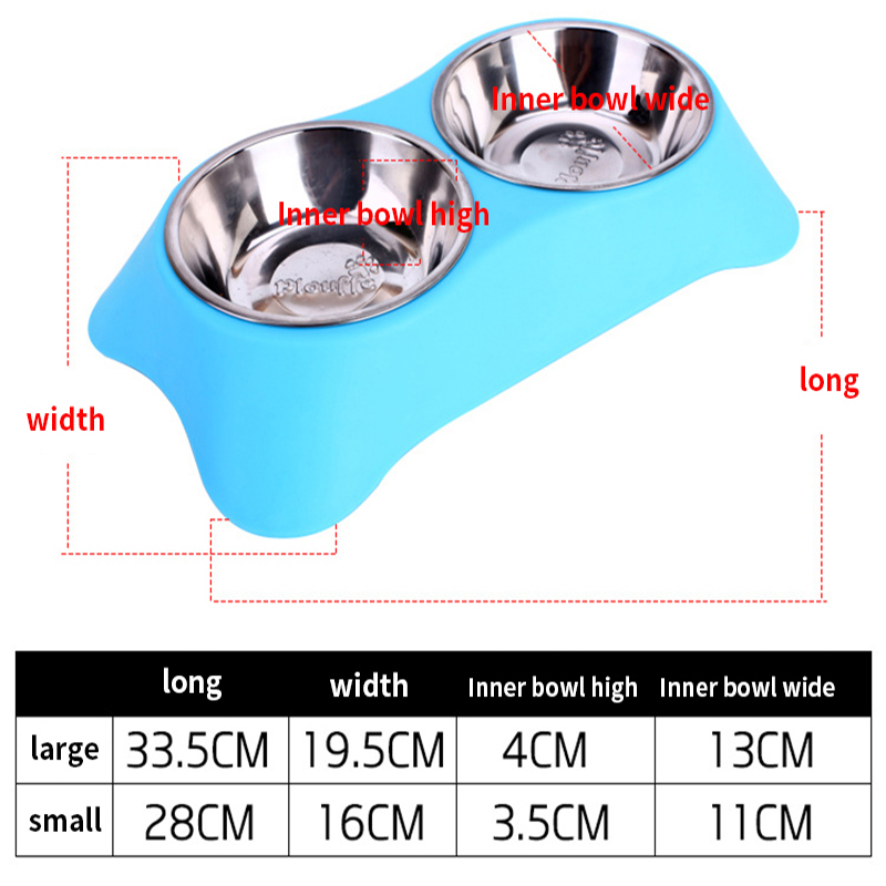 CAWAYI KENNEL Dog Feeder Drinking Bowls for dogs Cats Pet Food Bowl comedero perro miska dla psa gamelle chien chat voerbak hond 5