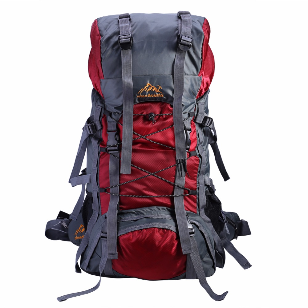 60L Large Backpack Female Male Nylon Waterproof Travel Bag Sport Rucksack Men Women For Mountaineering Hiking Outdoor Camping 60l men women military backpacks waterproof nylon fashion male laptop backpack casual female travel rucksack camouflage army bag
