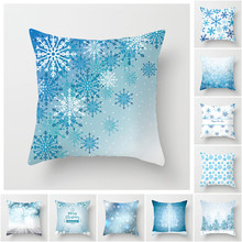 Fuwatacchi Messy Christmas Elk Cushion Cover Snowflake Tree Printed Pillow for Home Sofa Chair Decorative Pillows 45*45cm