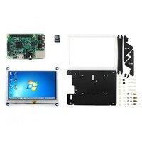 Modülü RPi3 B Paket E # Ahududu Pi 3 Model B Geliştirme Kiti + 5 inç Ekran 800*480 HDMI LCD (B) + Bicolor durumda + 8 GB Micro SD