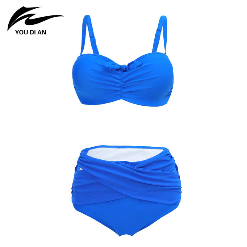 2017 Plus Size Swimwear Women Sexy Bikini Big Size Swimsuit High Waist Swimwear Bathing Suit Push Up Bikini Set Beach Wear high quality plus size sexy high waist blackless solid women black bikini swimwear underwire big women swimsuit