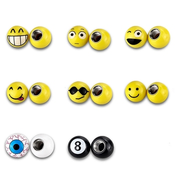 4Pcs/lot Universal Moto Bike Car Tire Valve Cap Wheel Dust Covers Yellow Smile Face Ball Car Styling For Ford BMW Chevrolet image