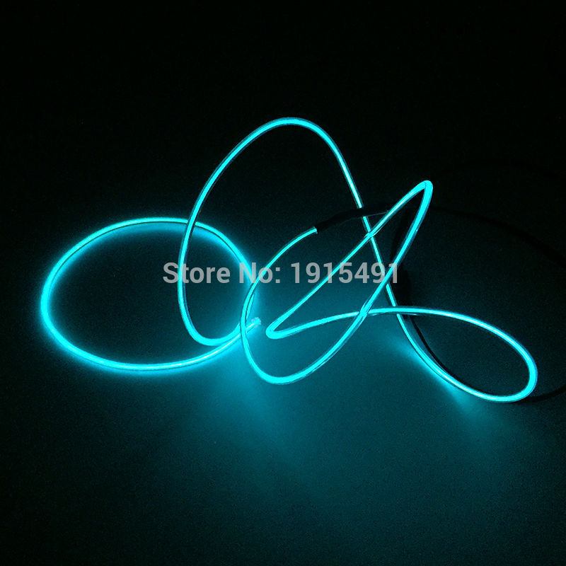 1meter sky blue el wire tube rope neon led strip light by aa battery for christmas tree. Black Bedroom Furniture Sets. Home Design Ideas