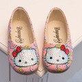 2016 Новый детская обувь мода обувь для девочек милый мультфильм горный хрусталь принцесса обувь дети противоскользящие обувь одного высокого качества