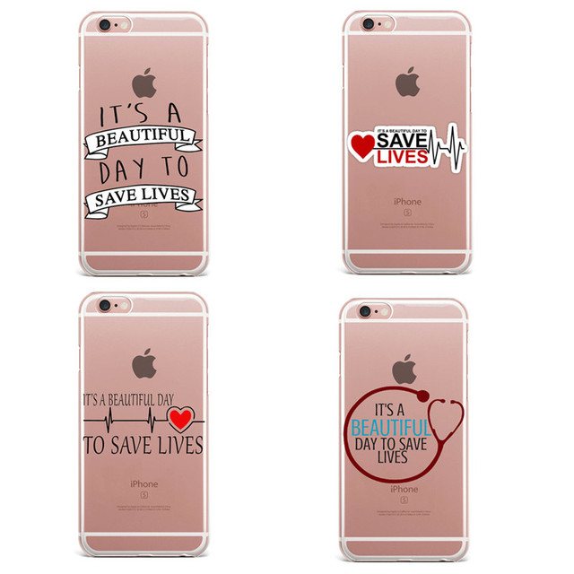Cute Greys Anatomy Quotes Pattern Mobile Phone Cases Skin For Iphone
