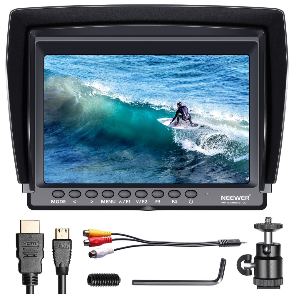 Neewer IPS Screen Camera Field Monitor support 4k input for Sony Canon Nikon Olympus DSLR/Camcorder Camera (Battery not Included