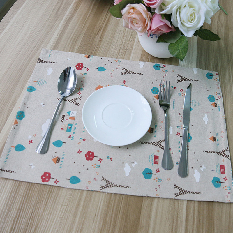 4pcs Lot Zakka Dining Table Mat Set Decoracao Kitchen Accessories Manteles Individuales Jogo Americano De