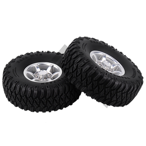 Image 3 - INJORA 4PCS 1.55 Inch Beadlock Aluminum Rim & Wheel Tires 1.55 Tyre for RC Crawler Car D90 TF2 Tamiya CC01 LC70 LC80