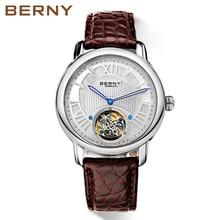 Berny mężczyźni zegarek kwarcowy moda męska Top luksusowa marka Relogio Saat Montre Horloge Masculino Erkek Hombre japonia ruch 070MB