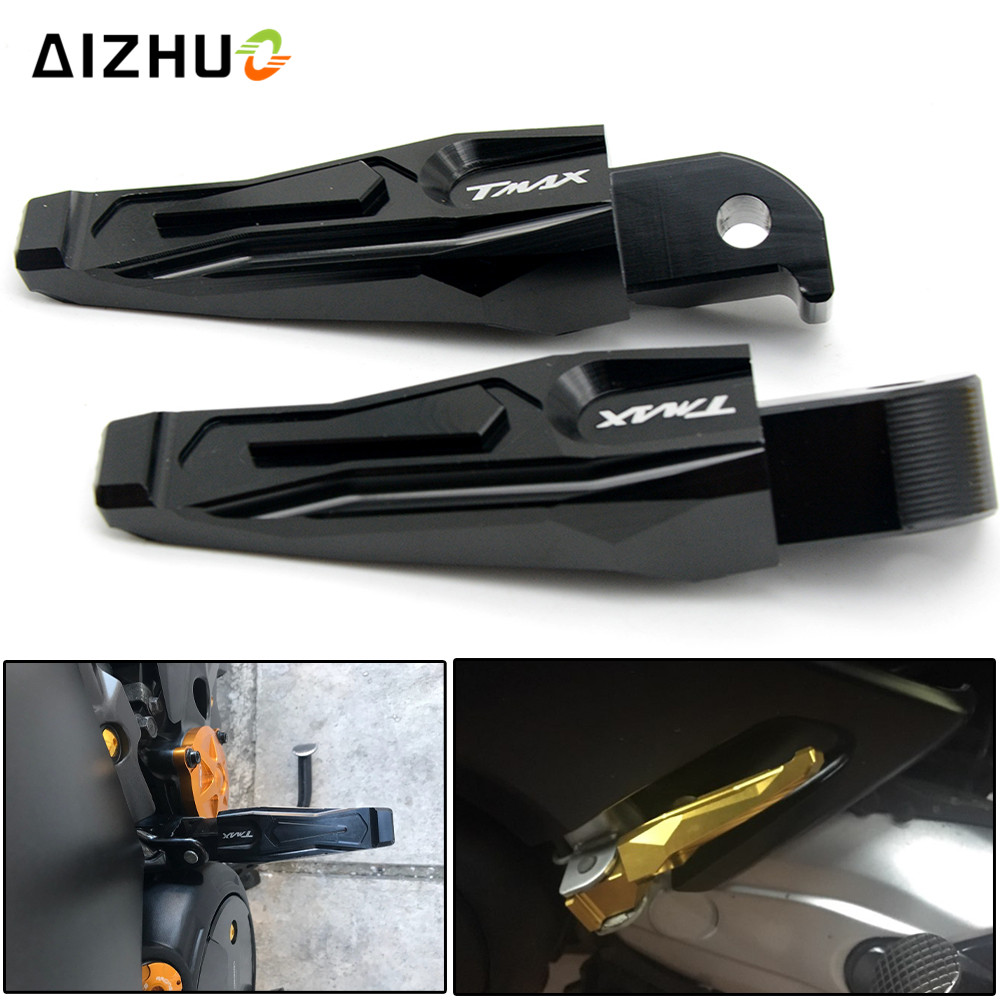 CNC Aluminum Motorcycle Rear Passenger Foot Pegs Pedals Footrests For Yamaha TMAX 500 TMAX 530 T-MAX500 T-MAX530 T MAX 500 530