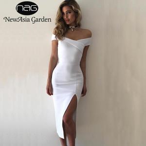 NewAsia Garden Black Autumn Winter Midi Dress Women Elegant 1155888932c2