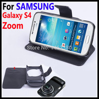 High Quality Leather Case For SAMSUNG Galaxy S4 Zoom S 4 C101 Phone Housing Flip Covers