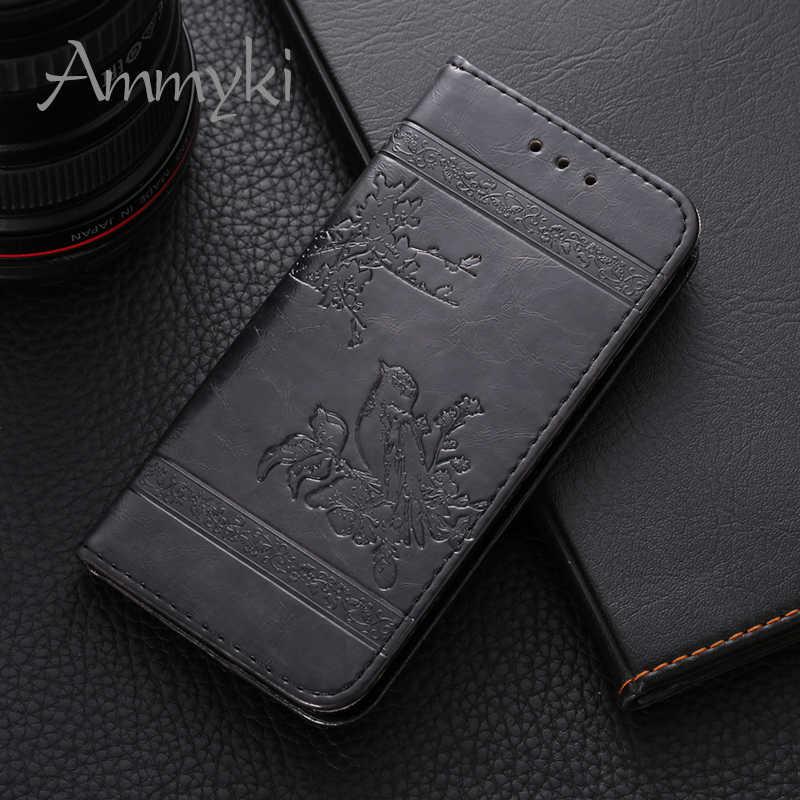 "AMMYKI غرامة تصميم تصميم عالية الجودة جلد الوجه ظهر هاتف محمول غطاء 5.0 ""ل هواوي التصاعدي Y600 حالة"