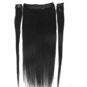 """ZZHAIR 100g-200g 16""""-28"""" Machine Made Remy Hair 5 pcs Set 9 Clips-in 100% Human Hair Extensions Natural Straight Hair(China)"""
