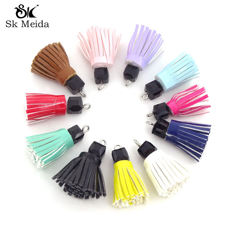 50pcs Pu Tassel 23mm Small Tassels For Earring Making Accessories For The Manufacture Of Jewelery Diy Charm Pendants