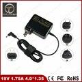 Portable 19V 1.75A 4.0*1.35mm 33W For ASUS Vivobook Taichi 11.6 S220 S200E X202E F201E Q200E S200E Power Supply Charger Adapter