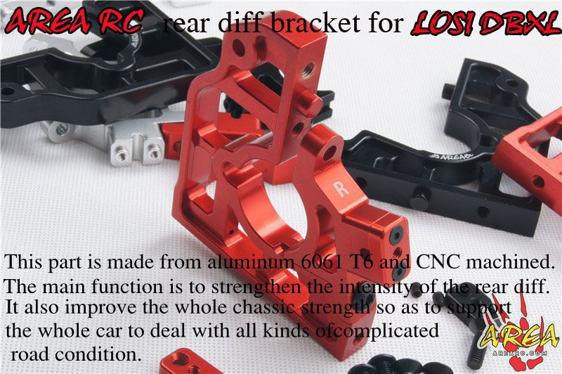 Area RC rear diff bracket for LOSI DBXL area rc rear alloy differential housing for losi 5ive t