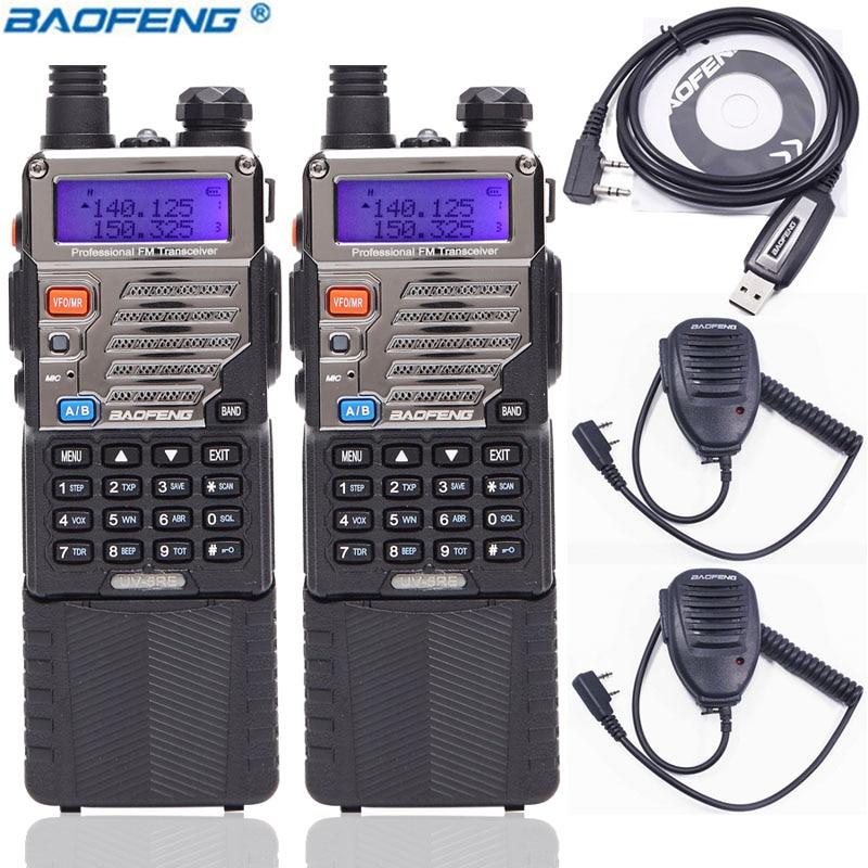2PCS BaoFeng UV 5RE 8Watts 10KM Long Range Walkie Talkie 8W Powerful 3800mAh Dual Band VHF