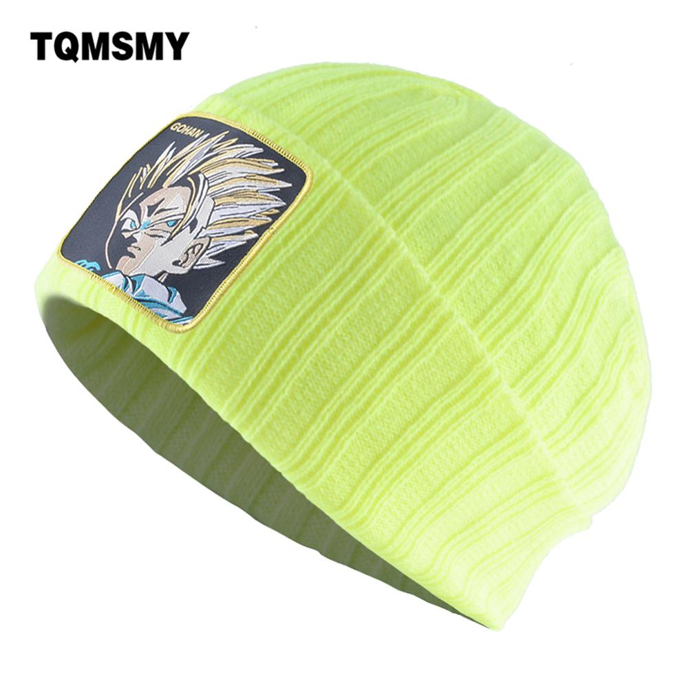 TQMSMY Dragon Ball Hats For Men Autumn Winter Knitted Beanie Women With Patch Winter Soft Skullies Beanies Streetwear Bonnet Cap(China)
