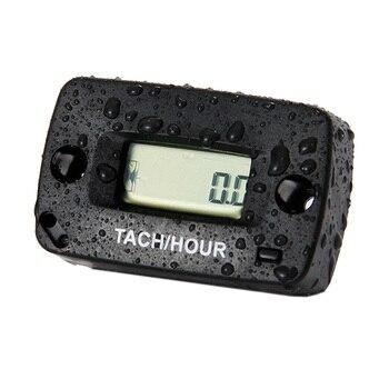 IP68 Digital inductive Tachometer tach RPM Hour Meter for gas engine mower ATV Motorcycle Snowmobile jet ski motocross pit bike