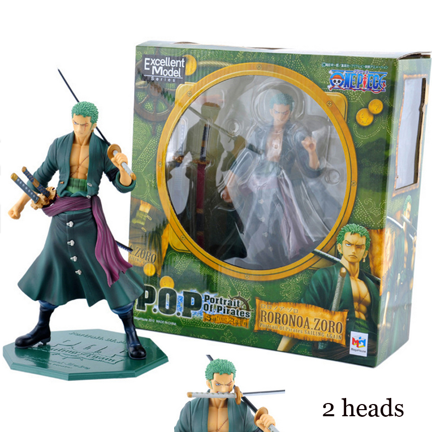 Good PVC Excellent Model Anime One Piece Action Figure Roronoa Zoro P.O.P Sailing Again Big Assemble Modeling Toy Collectibles exhaust tips on jaguar xe