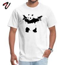 Banksy Panda Guns Wholesale Punk Sleeve Birthday T-shirts Gravity Falls Crewneck Men T Shirt Normal Summer/Autumn