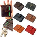 Unisex Women Man Genuine Leather Purse Clutch Wallet Simple Card Holder Bag ID Credit Card Coin Holder