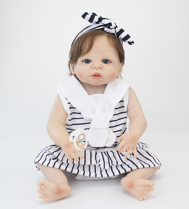 55cm Full Silicone Bebe Reborn Doll Waterproof Body 22 Vinyl Newborn Princess Baby Girl Bonecas Bathe Toy Fashion Birthday Gift55cm Full Silicone Bebe Reborn Doll Waterproof Body 22 Vinyl Newborn Princess Baby Girl Bonecas Bathe Toy Fashion Birthday Gift