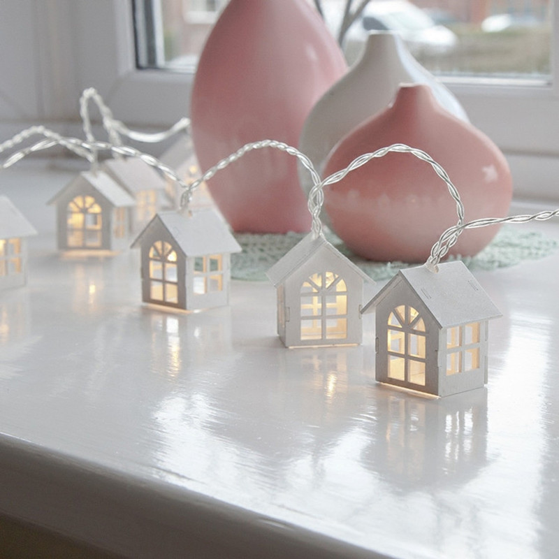 1.65M 10LED House Shaped Led String Light for Indoor Decoration, Girl's Room Decorative String Lights Wedding PartyXmas Garland