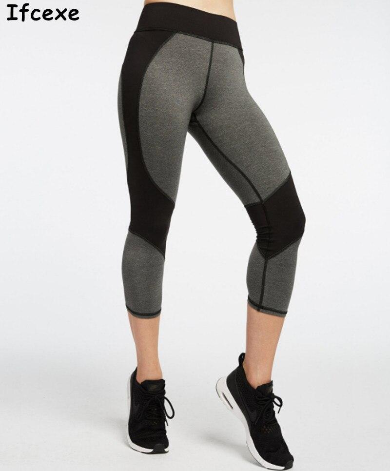 New Hot Yoga Pants Women Running Gym Leggings Girls Sport Tights 3/4 Compression Sport Trousers Gym Black Brand New Yoga Pants