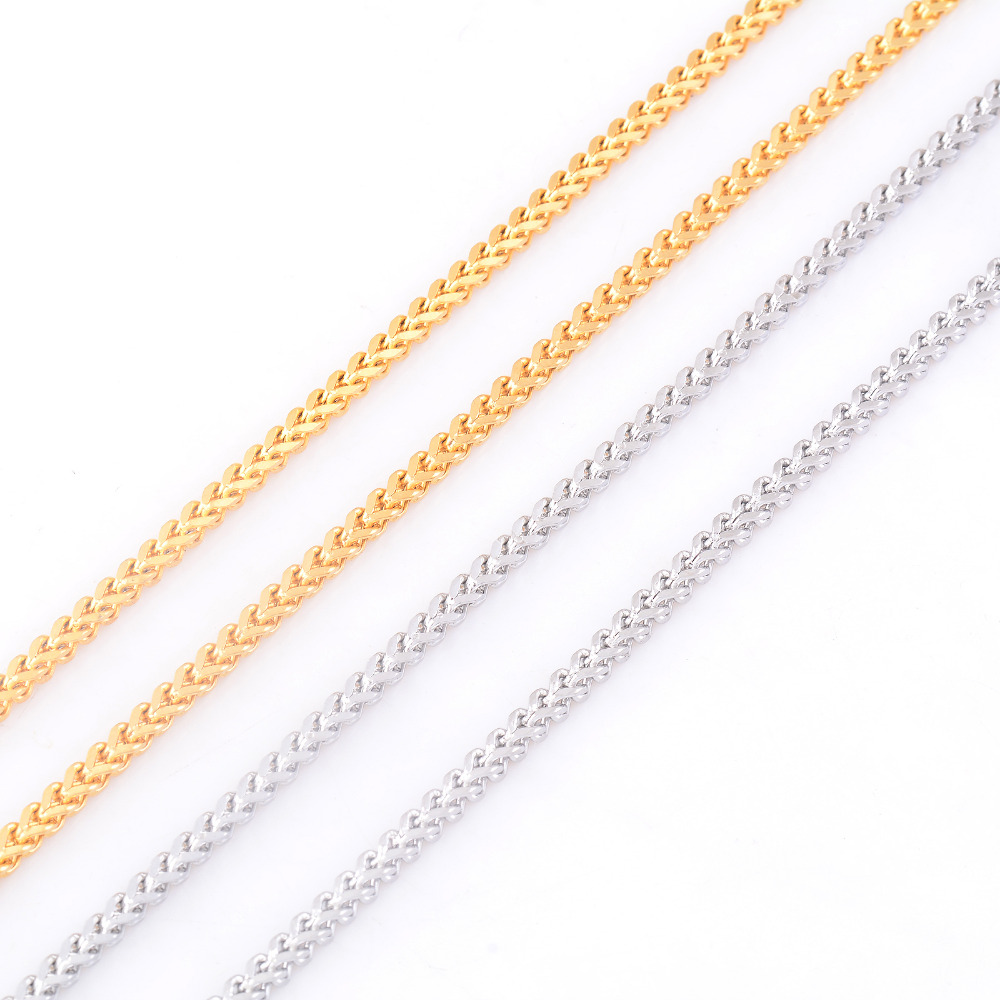 Fashion Women and Men Necklace 316L Stainless Steel Chain For High Quality Silver/Gold Tone Jewelry Gift